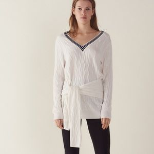 Sandro Emma Cable-Knit Sweater Off White Sweater
